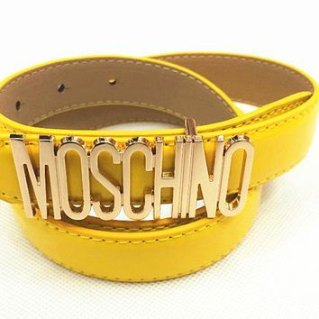 MOSCHINO letters Belt fashion wild candy candy belt-3