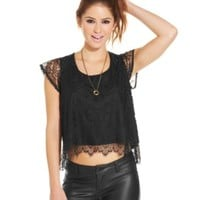 American Rag Open-Knit Crop Top | macys.com