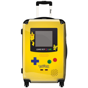 "iKase 'Game Boy Yellow Pokemon' 24-inch Fashion Hardside Spinner Suitcase | Overstock.com Shopping - The Best Deals on 24""-25"" Uprights"