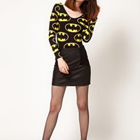 Lazy Oaf x Batman Exclusive Bodysuit In Bat Logo Print at asos.com