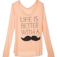 Life is Much Better With A Mustache Long-Sleeve Tee