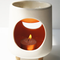 The Awesome Candle / Handmade ceramic wax warmer / oil warmer / burner / soy candle melt / wax tart / candle holder