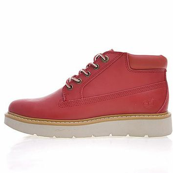 """Timberland Fashion Mid Boots """"Leather Red""""TB0 A1GP2W"""