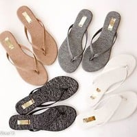 Women's Sandals Flip Flop Slip On Summer Casual Thong Flat Sandal Shoe New 2016