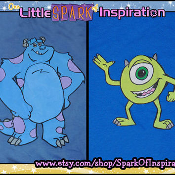 Monsters Inc - Monsters University - Sully James P. Sullivan & Mike Wazowski  T-Shirt Commission