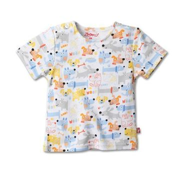 Zutano Puppies Short Sleeve T-Shirt