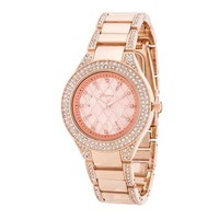 *Classic Rose Gold Watch With Crystals