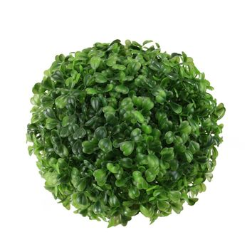 "7.5"" Decorative Outdoor Garden Artificial Two Tone Green Boxwood Ball"