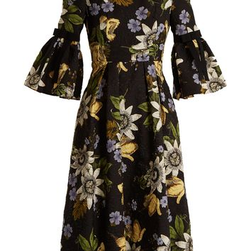 Aleena floral-print matelassé dress | Erdem | MATCHESFASHION.COM UK