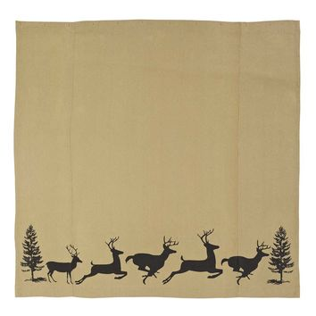 Barrington Shower Curtain Burlap with Stencil 72x72