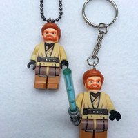 BOGO Promo Buy 1 Get 1! Buy 1 Lego Necklace Obi-Wan Kenobi Starwars, Starwars Collection, Get 1 Keychain FREE Superhero Party Favors Geek