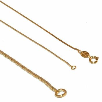 "1-1615-1-e12 Gold Filled Square snake Link Chain, 1mm link, 18"" necklace,"