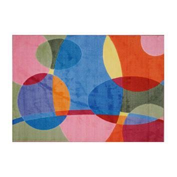 Supreme Home Decorative Area Rug Nylon Groovy Dots -39X58