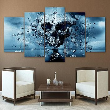 Canvas Art HD Printed Painting Modular Pictures Home Decor Photo Frame 5 Panels Movie Final Destination Poster Wall Art PENGDA