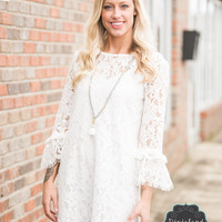 The Isabel Ivory Lace Dress