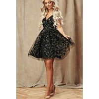 Dancing Among Stars Dress (Black)