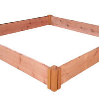 "Grogardens 4' x 4' x 5.5"" Redwood Raised Garden Bed"