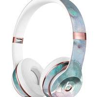 Green Blotted WaterColor Texture Full-Body Skin Kit for the Beats by Dre Solo 3 Wireless Headphones