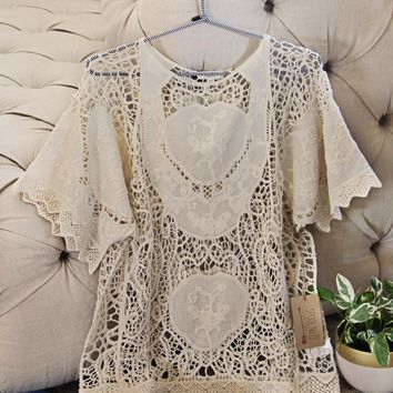 La Boheme Lace Top in Sand