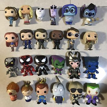 Original Funko pop Joker, Freedy, Venom, Stitch, Goblin, Adventure, Deen, Loki, Rocks, Daenerys Figures Collectible Model Toy