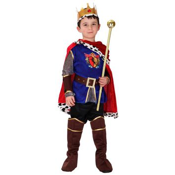 2017 Hot Sale Halloween Cosplay Costume For Children The King Costumes Children's Day Boys Prince Party Costume 7 Pcs