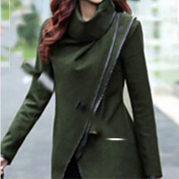 Long Vintage Colored Trench Coat for Women