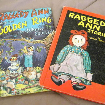 60's Raggedy Ann Books by Johnny Gruelle set of 2