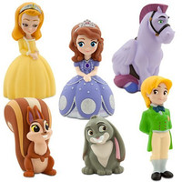 Figure doll six bodies set Sofia Amber James Watt clover knots can play in Sofia the First Bathing Minimasu US Disney store parallel import goods Sofia Bath Toy Set