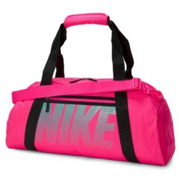 Hott Pink Nike Gym Club Fashion Workout Duffel Wet Dry Padded Storage Bag
