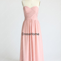 Long Simple Pale Pink Bridesmaid Dress - Cheap Bridesmaid Dresses / Long Bridesmaid Dresses / Prom Dress / Pink Prom Dress