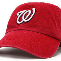 Washington Nationals Red Relaxed-FIT Adjustable Clean Up Baseball Cap by 47 Brand()
