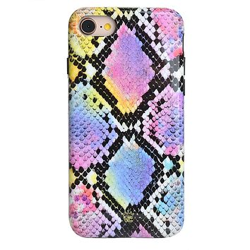 Neon Snakeskin iPhone Case