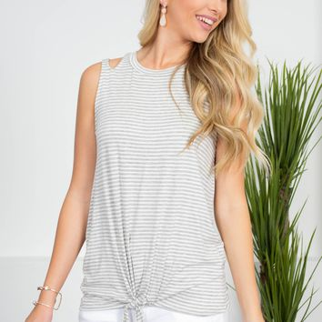 Betty Striped Knot Top