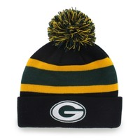 Green Bay Packers '47 Brand Breakaway Cuffed Beanie - Black