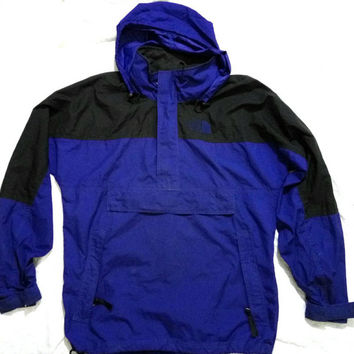 The North Face Windbreaker Jacket packable size Medium Indigo Vintage