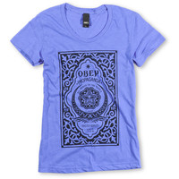 Obey Girls Moroccan Label Blue Tee Shirt