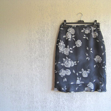 Skirt floral bohemian vintage skirt 90s 80s vintage fashion woman skirt summer