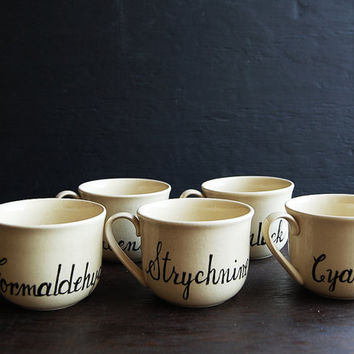 Hand Painted Poisons Teacup Set