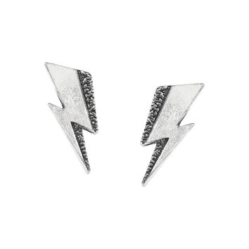 Alchemy Gothic David Bowie Flash Lightning Bolt Studs Earrings