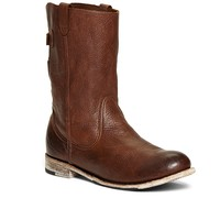 Women's Vintage Shoe Company Short Brown Leather Buckle Boots | Brooks Brothers