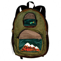 Big Mountain Corduroy Patchwork Backpack on Sale for $49.99 at HippieShop.com