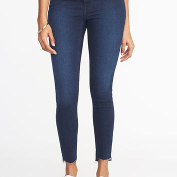 Mid-Rise Rockstar Super Skinny Step-Hem Jeans for Women | Old Navy