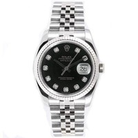 Rolex Mens New Style Heavy Band Stainless Steel Datejust Model 116234 Jubilee...
