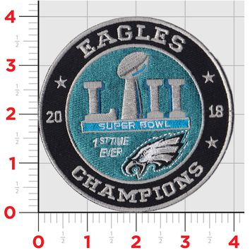 Philly Eagles SB Winners Iron On/Sew on Patch!!! World Champs Philly Eagles!!!! Super Bowl!!! Plus Vinyl Sticker