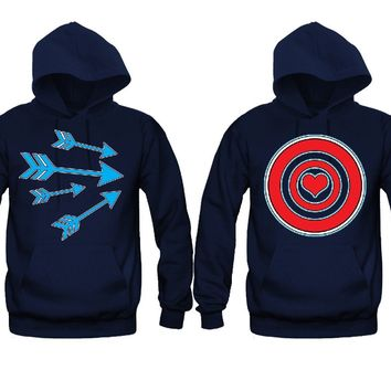 Shoot My Heart Very Cute Unisex Couple Matching Hoodies