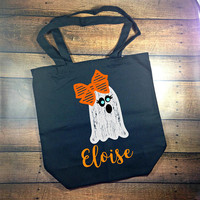 trick-or-treat bag personalized, trick or treat bag, halloween bag, halloween tote personalized, trick or treat buckets, candy bag, monogram