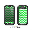 The Green & White Chevron Pattern Skin For The Samsung Galaxy S3 LifeProof Case