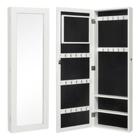"Bellezza© 42.5""-inch Jewelry Mirrored Cabinet Armoire Organizer Storage Wall Mount (Black)"