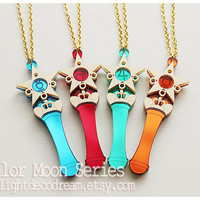 MADE to ORDER Star Power Stick Acrylic Necklace or Phone Strap Sailor Moon Inspired for Mahou Kei Fans