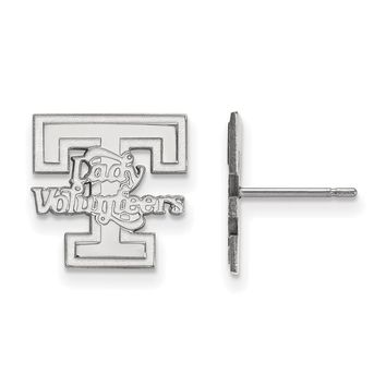 NCAA 10k White Gold University of Tennessee Small Post Earrings